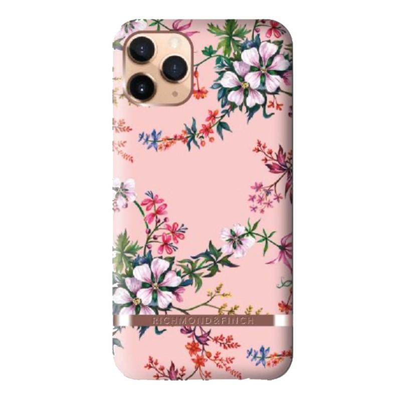 Richmond & Finch iPhone 12 / 12 Pro 6.1 inch Hoesje Pink Blooms - 1