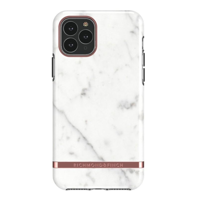 Richmond & Finch iPhone 12 / 12 Pro 6.1 inch Hoesje Wit Marmer - 1
