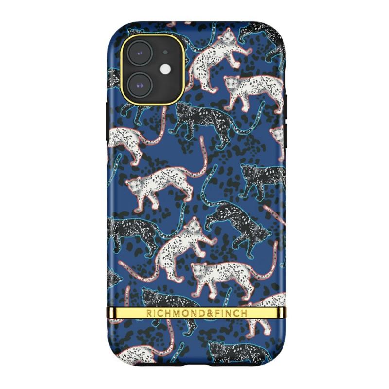 Richmond & Finch Trendy iPhone 12 Mini hoesje Blue Leopard - 1