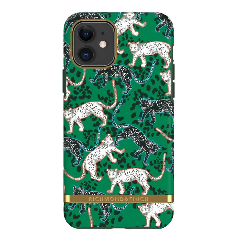 Richmond & Finch Trendy iPhone 12 Mini hoesje Green Leopard - 1