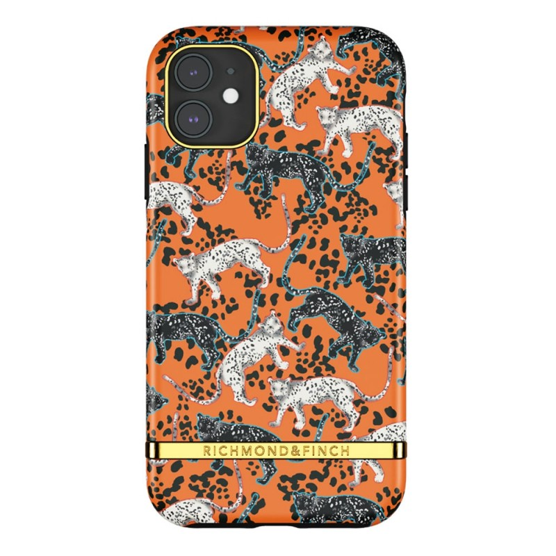 Richmond & Finch Trendy iPhone 12 Mini hoesje Orange Leopard - 1