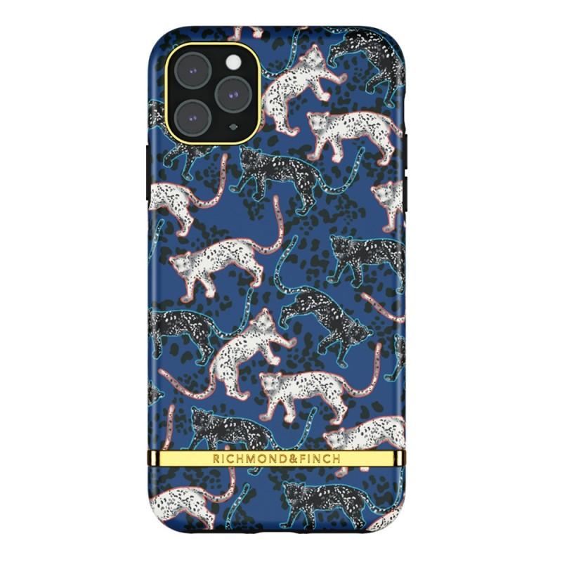 Richmond & Finch iPhone 12 Pro Max Hoesje Blue Leopard - 1