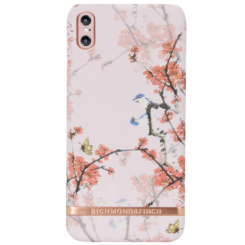 Richmond & Finch Tropical Leaves iPhone X/Xs Hoesje Cherry Blush - 1