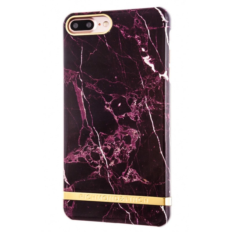 san francisco 243f1 21fbf Richmond & Finch - Marble Glossy iPhone 8 Plus/7 Plus red marble