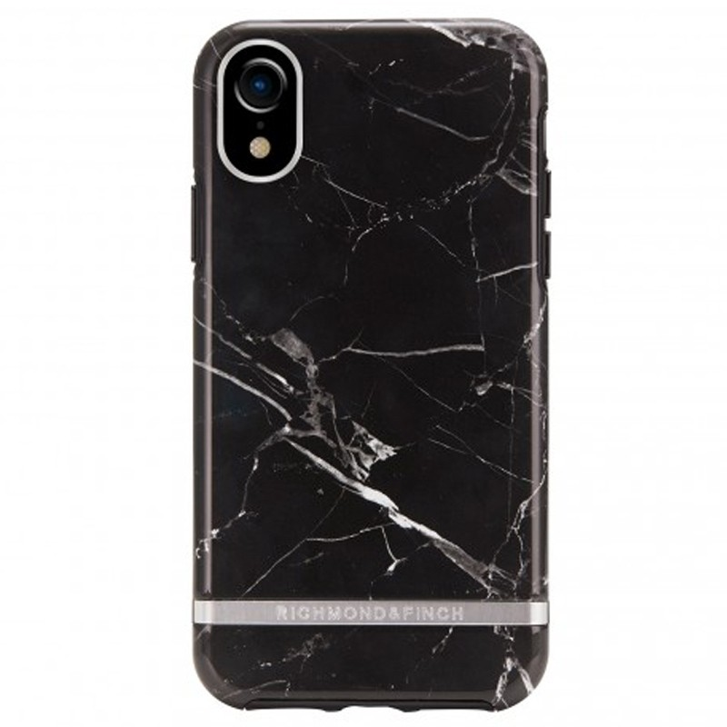 Richmond and Finch Trendy iPhone XR Hoesje Black Marble 01