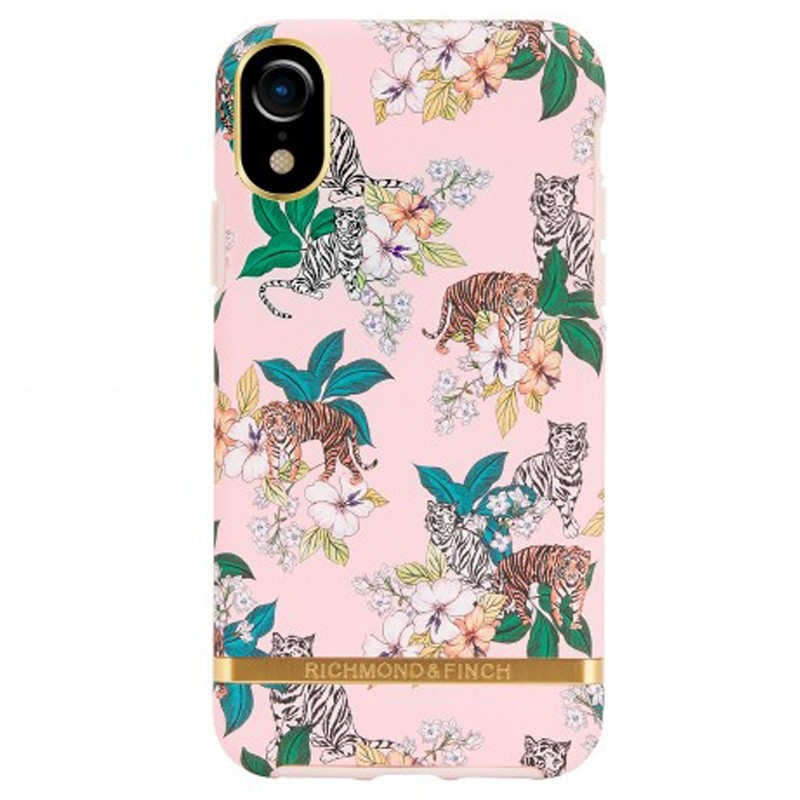 Richmond and Finch Trendy iPhone XR Hoesje Pink Tiger 01