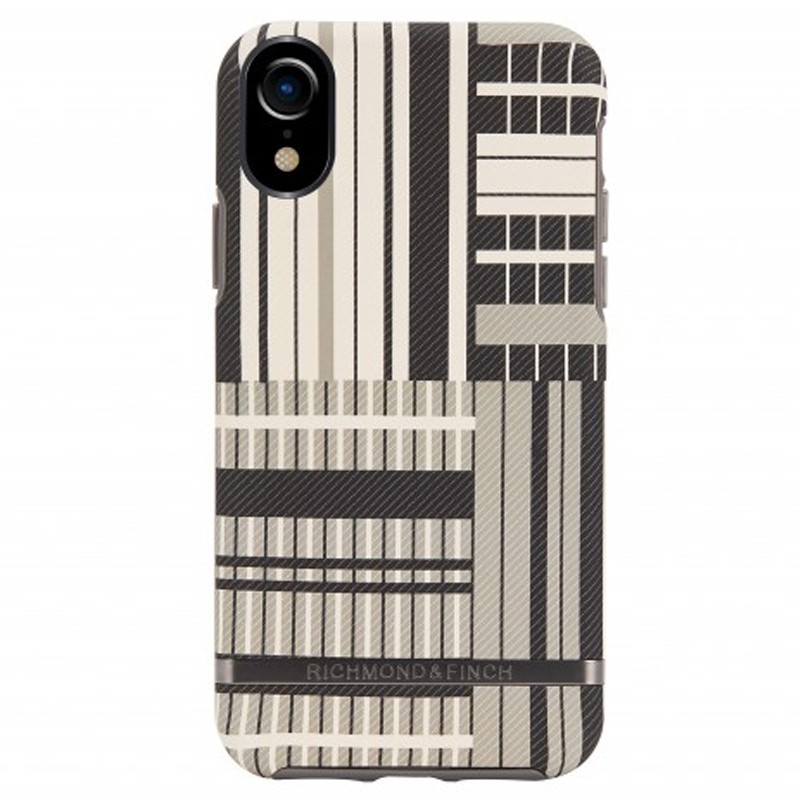 Richmond and Finch Trendy iPhone XR Hoesje platinum Stripes 01