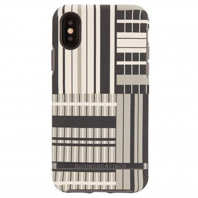 Richmond & Finch Trendy iPhone XS Max Hoesje Platinum Stripes 01