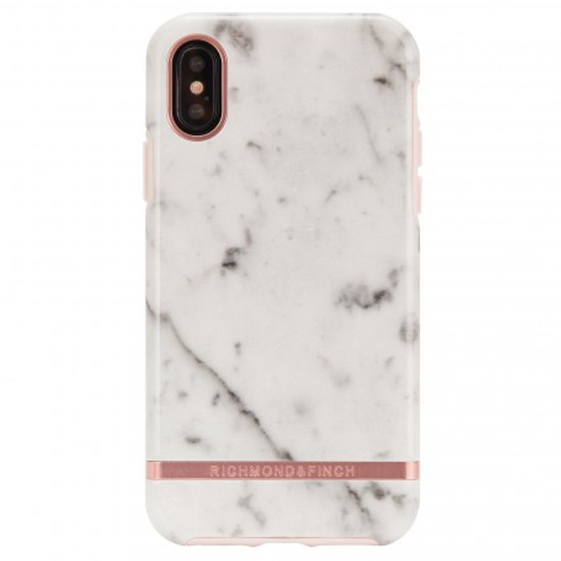 Richmond and Finch Trendy iPhone XS Max Hoesje White Marble 01