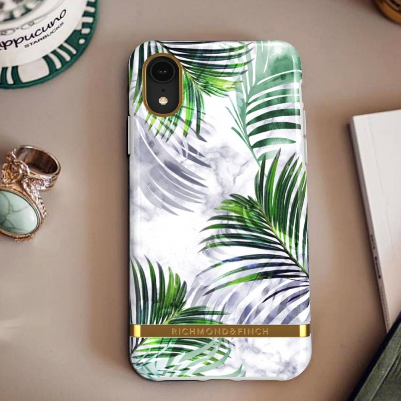 Richmond & Finch iPhone XR White Marble Tropics - 4