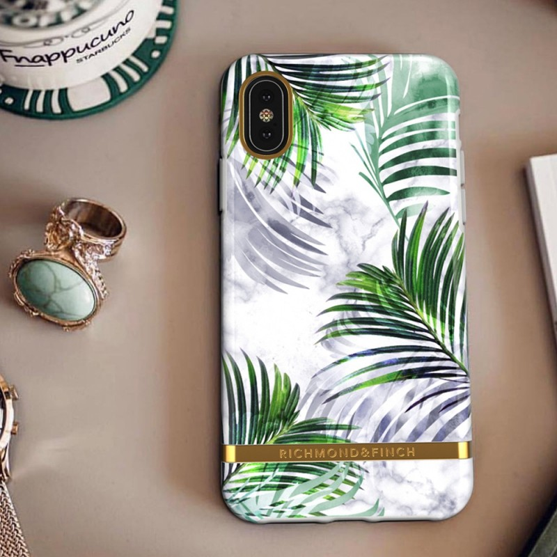 Richmond & Finch iPhone XS Max White Marble Tropics - 4