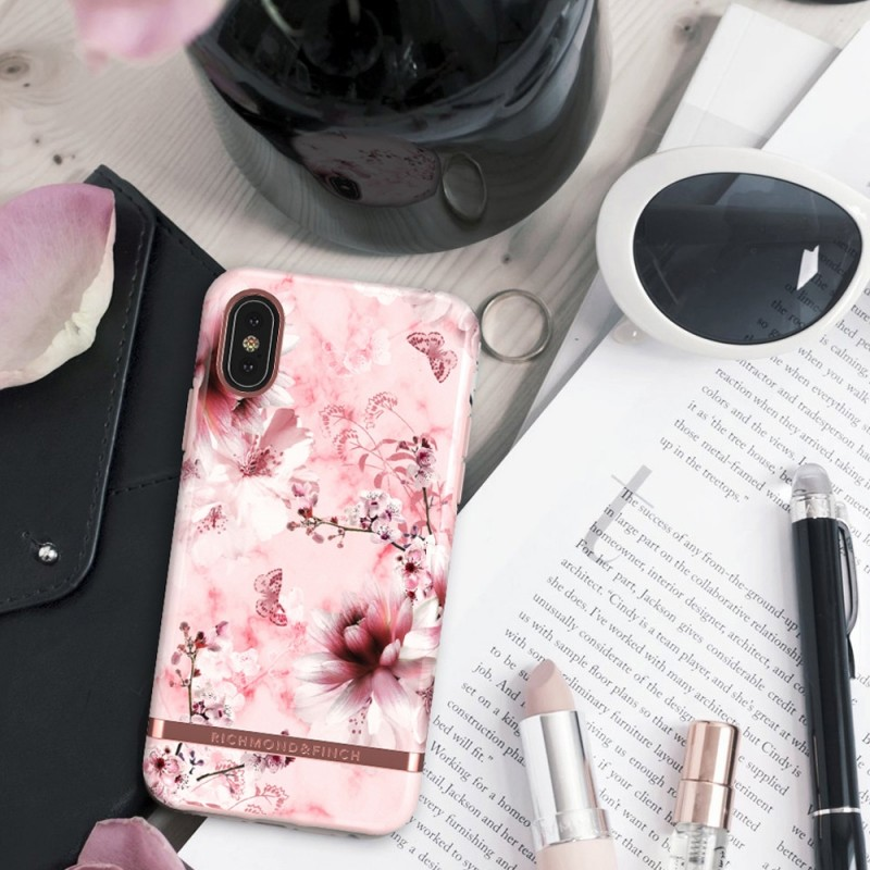 Richmond & Finch iPhone X/XS Pink Marble Floral - 4