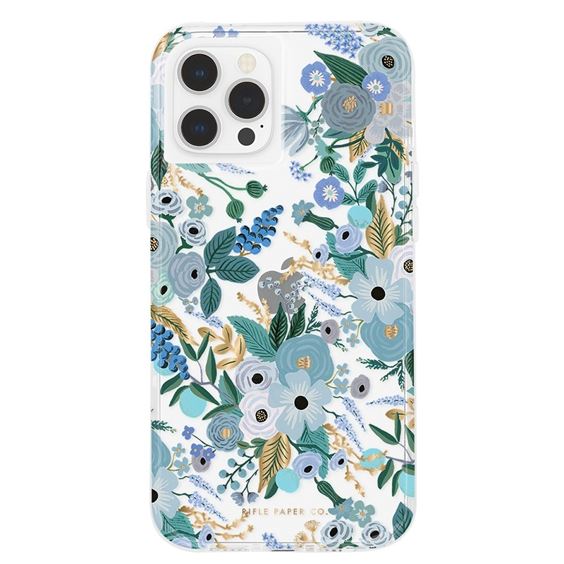 Case-Mate - Rifle Paper Flower Case iPhone 12 / iPhone 12 Pro 6.1 inch garden party blue 01