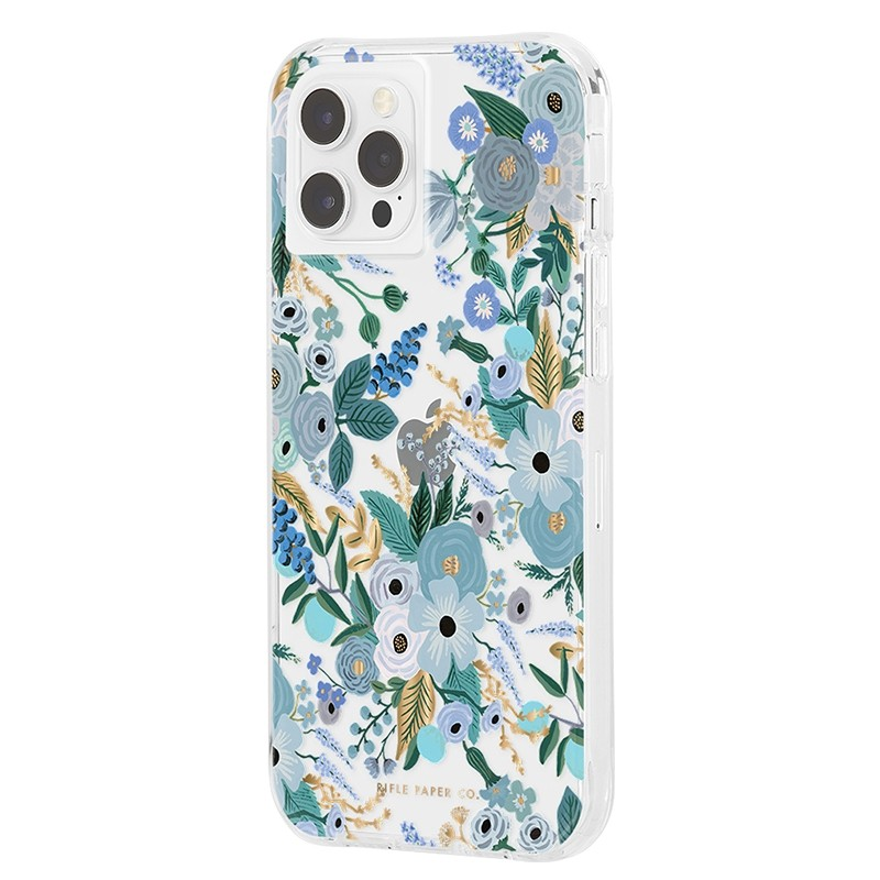 Case-Mate - Rifle Paper Flower Case iPhone 12 / iPhone 12 Pro 6.1 inch garden party blue 02