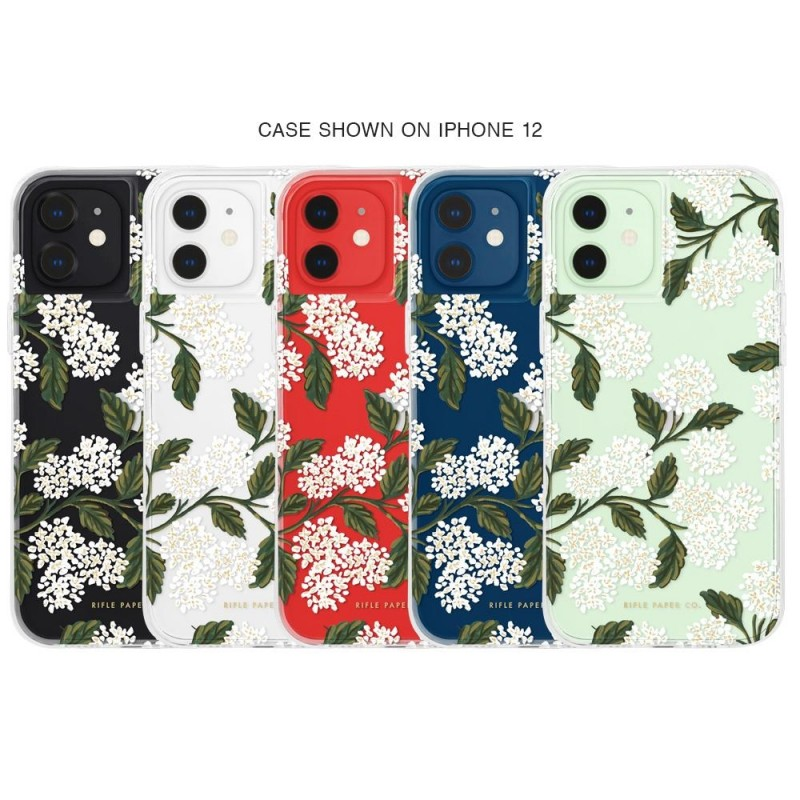 Case-Mate Rifle Paper Flower Case iPhone 12 Mini 5.4 inch hydrangea white 04