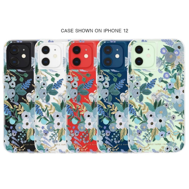Case-Mate Rifle Paper Flower Case iPhone 12 Mini 5.4 inch Garden Part Blue 04