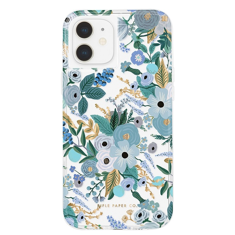 Case-Mate Rifle Paper Flower Case iPhone 12 Mini 5.4 inch Garden Part Blue 01