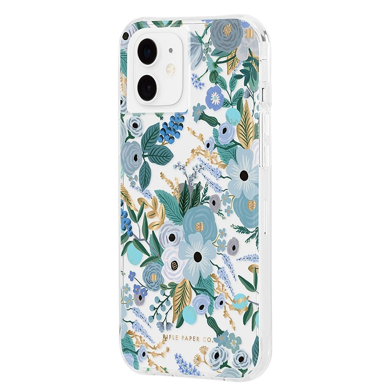 Case-Mate Rifle Paper Flower Case iPhone 12 Mini 5.4 inch Garden Part Blue 02