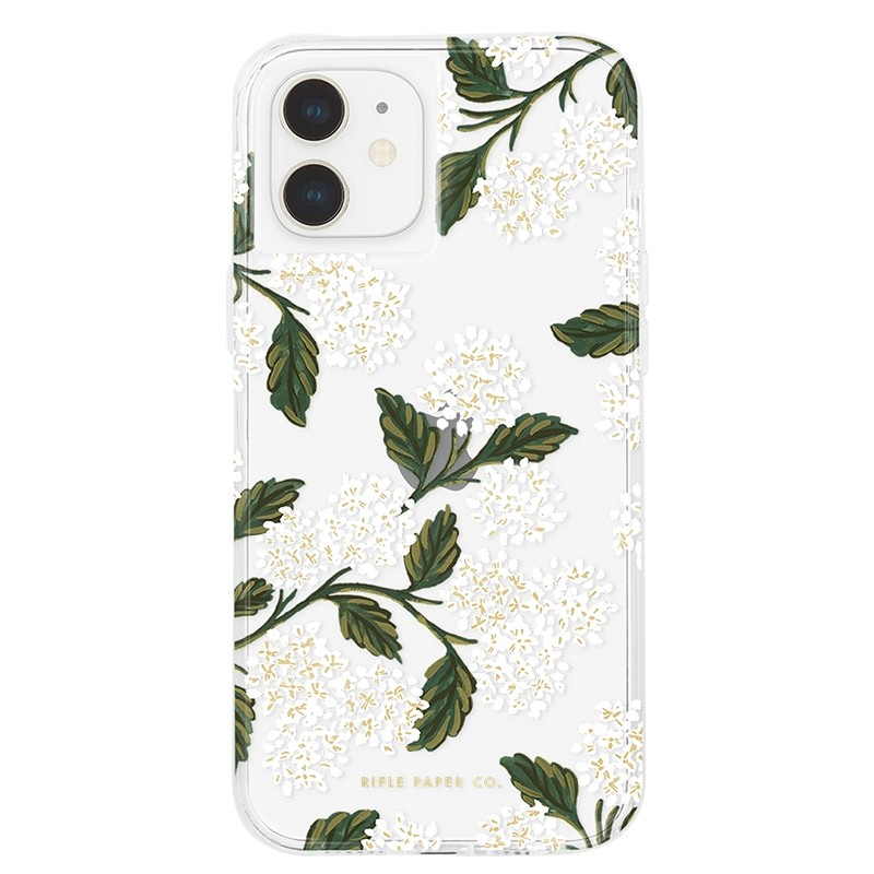Case-Mate Rifle Paper Flower Case iPhone 12 Mini 5.4 inch hydrangea white 01