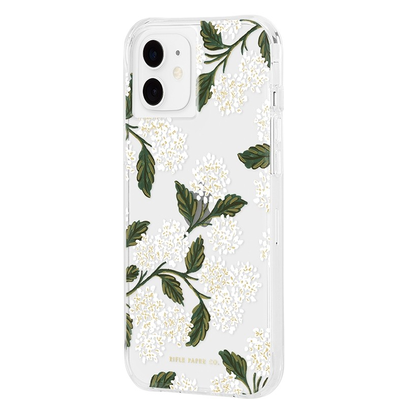 Case-Mate Rifle Paper Flower Case iPhone 12 Mini 5.4 inch hydrangea white 02