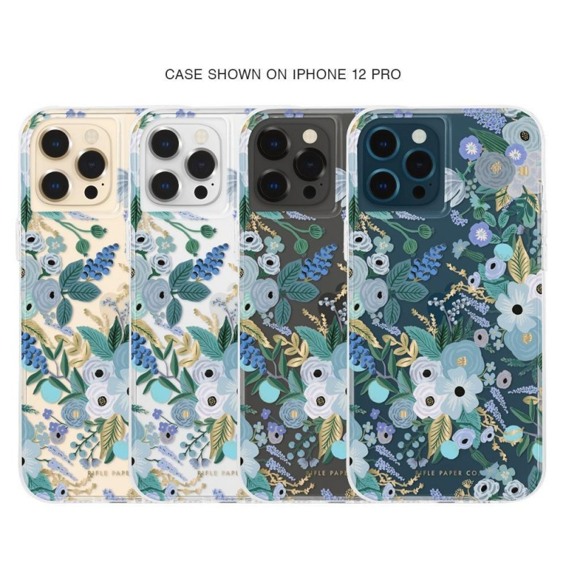 Case-Mate - Rifle Paper Flower Case iPhone 12 / iPhone 12 Pro 6.1 inch garden party blue 04
