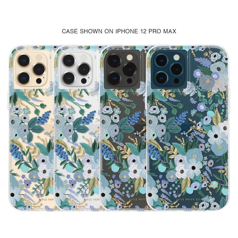 Case-Mate - Rifle Paper Flower Case iPhone 12 Pro Max 6.7 inch garden party blue 04