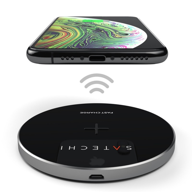 Satechi Wireless Qi Charger Space Grey - 3