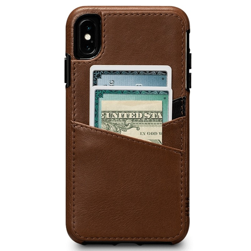 Sena Deen Lugano Wallet iPhone XS Max Hoesje Saddle Brown 01
