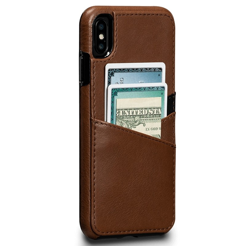 Sena Deen Lugano Wallet iPhone XS Max Hoesje Saddle Brown 02