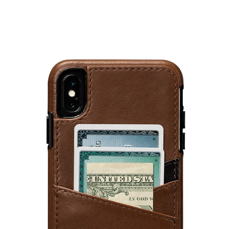Sena Deen Lugano Wallet iPhone XS Max Hoesje Saddle Brown 03