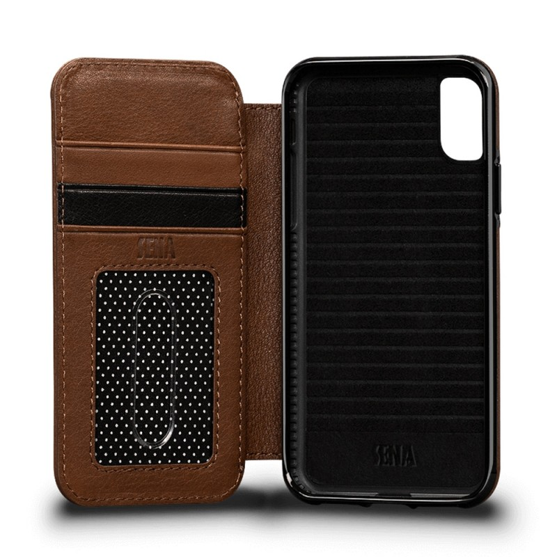 Sena Deen Wallet Book iPhone X/XS Bruin 04