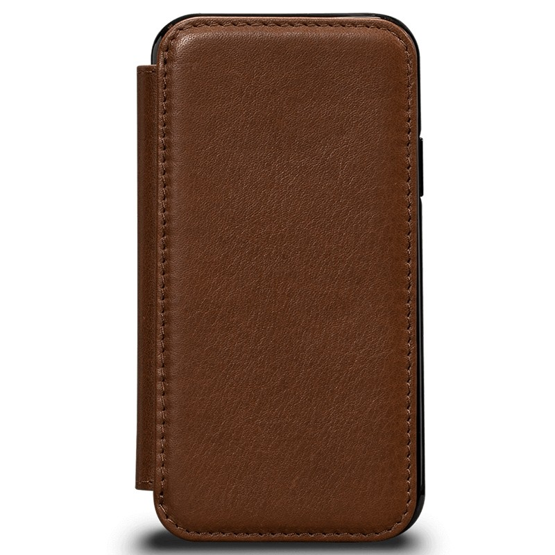 Sena Deen Walletbook iPhone XS Max Hoesje Saddle Brown 01