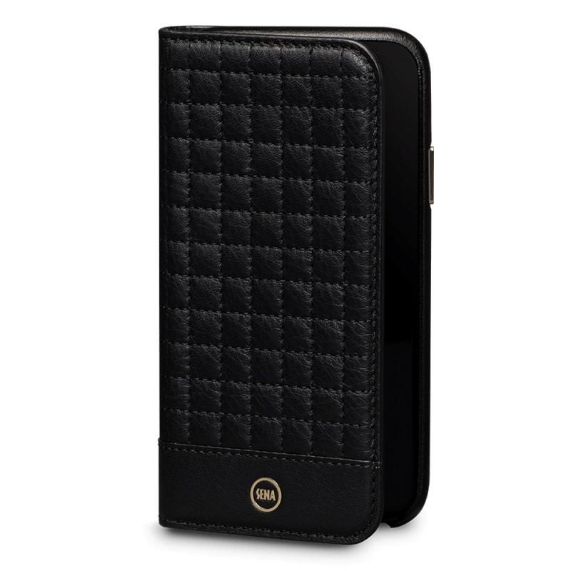 Sena Isa Quilted Wallet Book iPhone X/Xs Zwart - 1