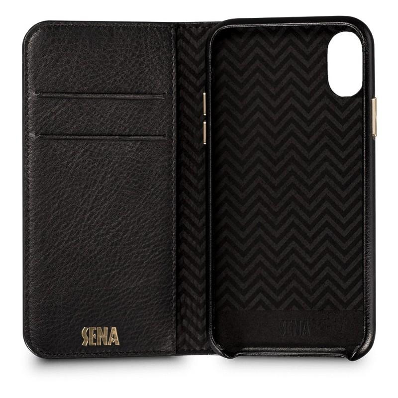 Sena Isa Quilted Wallet Book iPhone X/Xs Zwart - 2