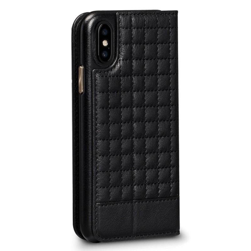 Sena Isa Quilted Wallet Book iPhone X/Xs Zwart - 4