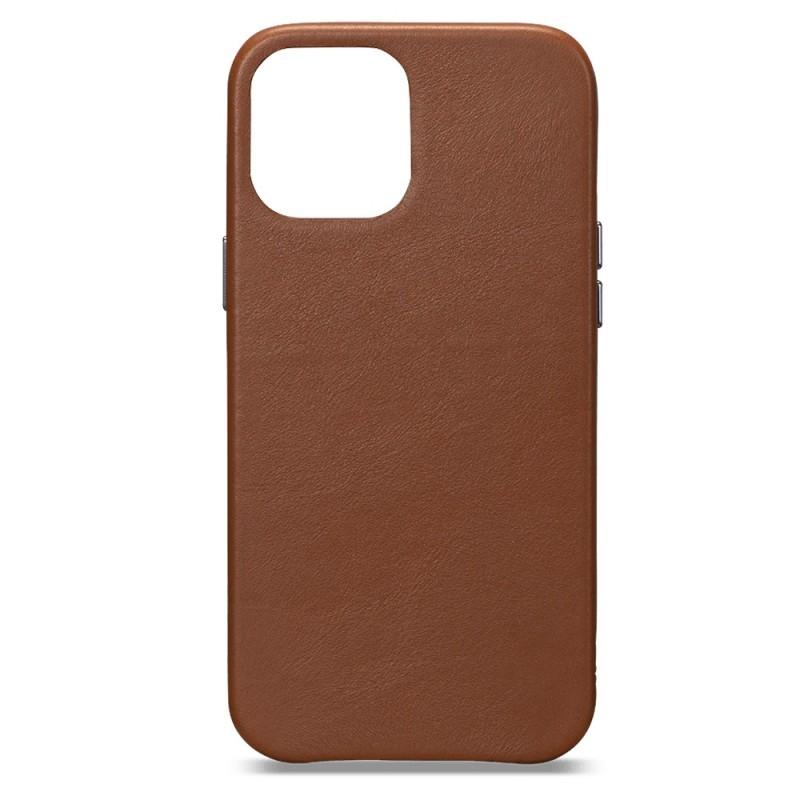 Sena Leather Skin iPhone 12 / 12 Pro 6.1 inch Bruin - 1