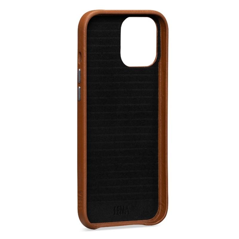 Sena Leather Skin iPhone 12 / 12 Pro 6.1 inch Bruin - 2