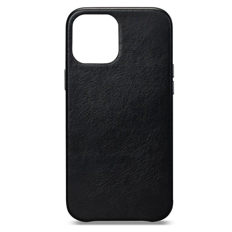 Sena Leather Skin iPhone 12 / 12 Pro 6.1 inch Zwart - 1