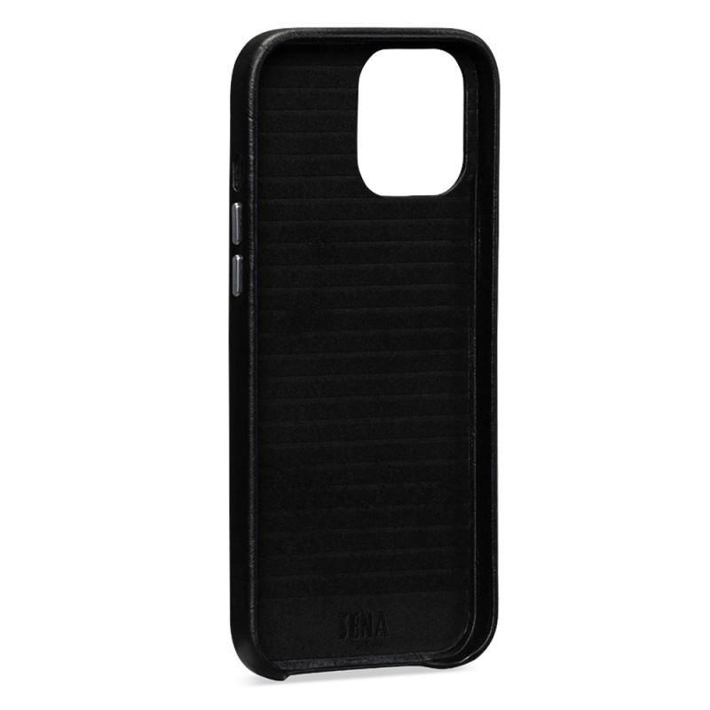 Sena Leather Skin iPhone 12 / 12 Pro 6.1 inch Zwart - 4