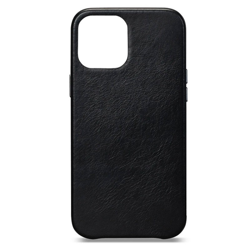 Sena Leather Skin iPhone 12 Mini Zwart - 1