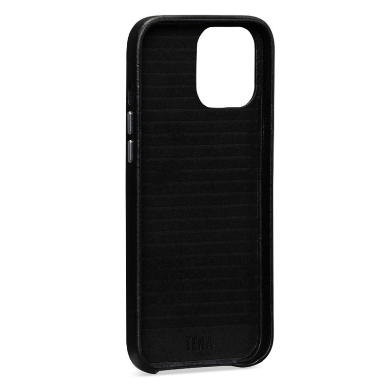 Sena Leather Skin iPhone 12 Mini Zwart - 4