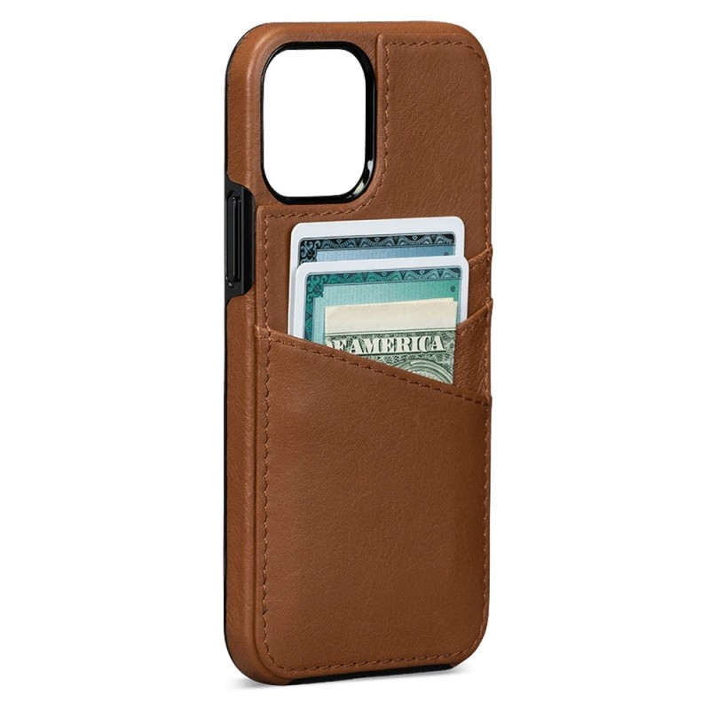 Sena Lugano Wallet iPhone 12 Mini Bruin - 1