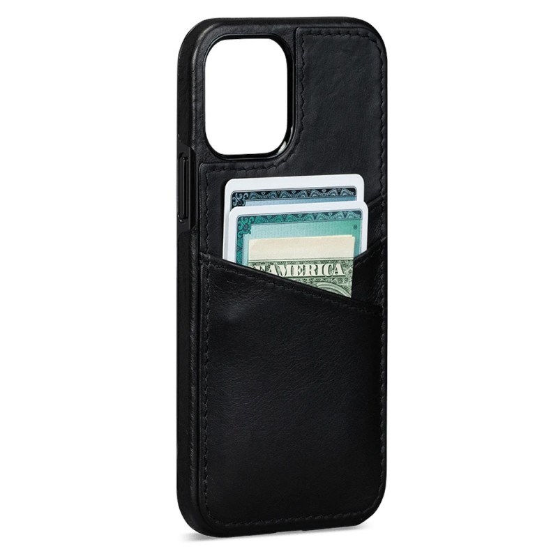 Sena Lugano Wallet iPhone 12 Pro Max Zwart - 1