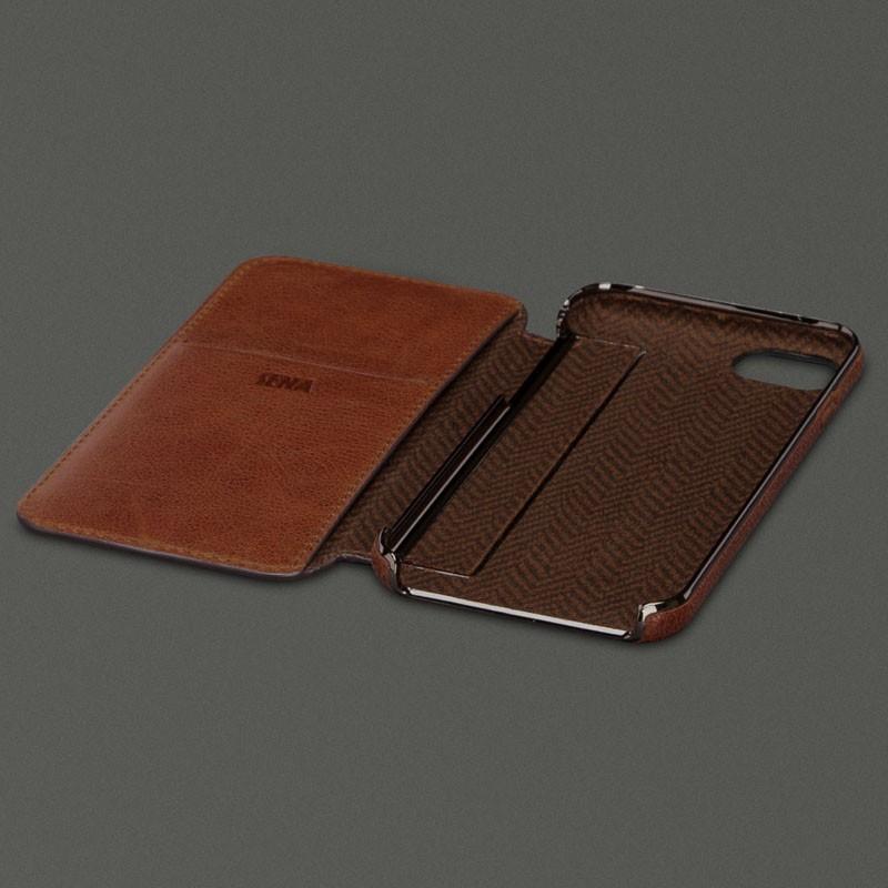 official photos 24753 86119 Sena - Ultra Thin Wallet Book iPhone 8 Plus/7 Plus cognac