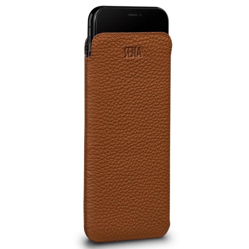 Sena UltraSlim iPhone XS Max Hoesje Bruin 02