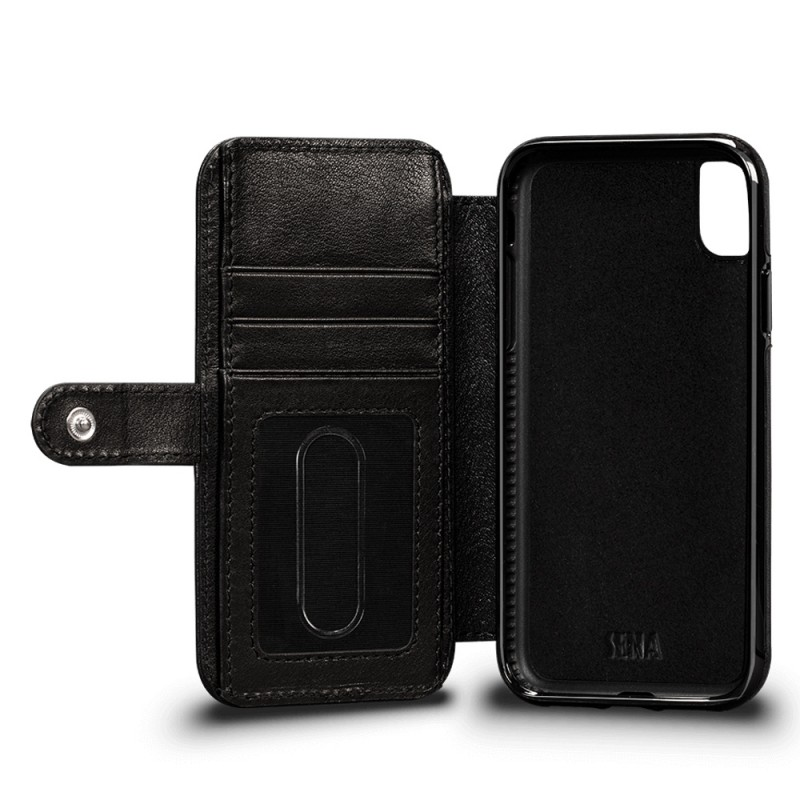 Sena Wallet Book Classic iPhone XR Zwart 02