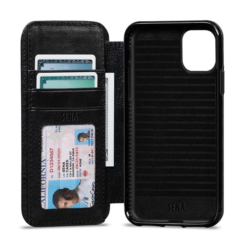Sena Wallet Book iPhone 11 Pro Max Zwart - 1