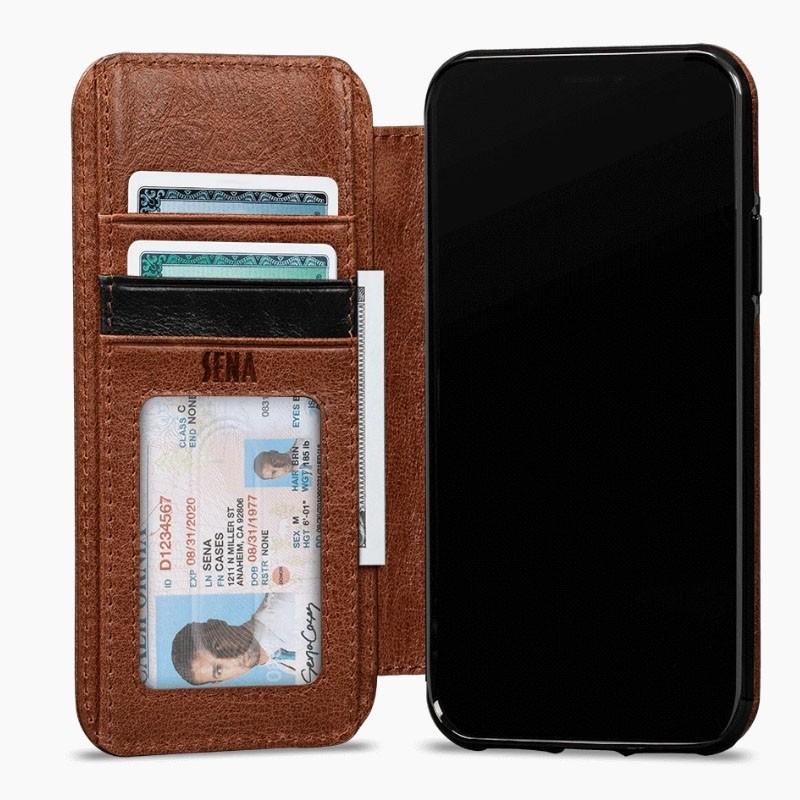 Sena Deen Wallet Book iPhone XR Cognac - 6