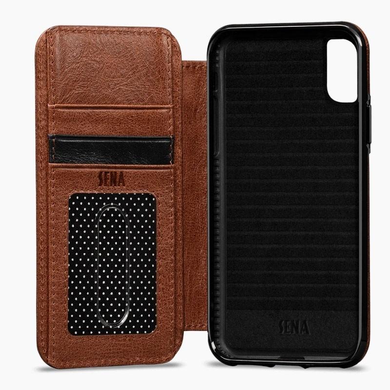 Sena Deen Wallet Book iPhone XR Cognac - 4