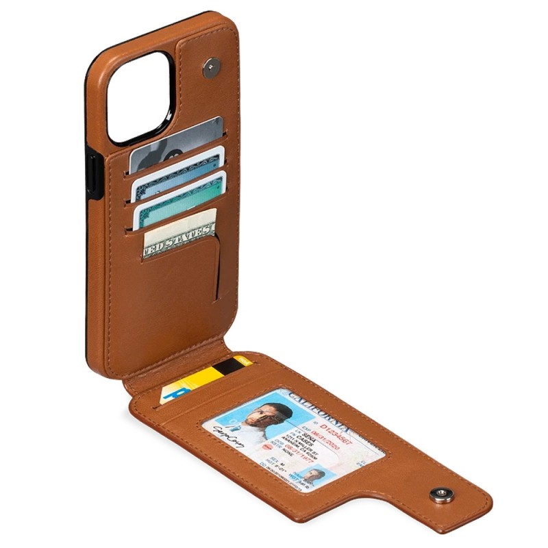 Sena Wallet Skin iPhone 12 Pro Max Bruin - 2